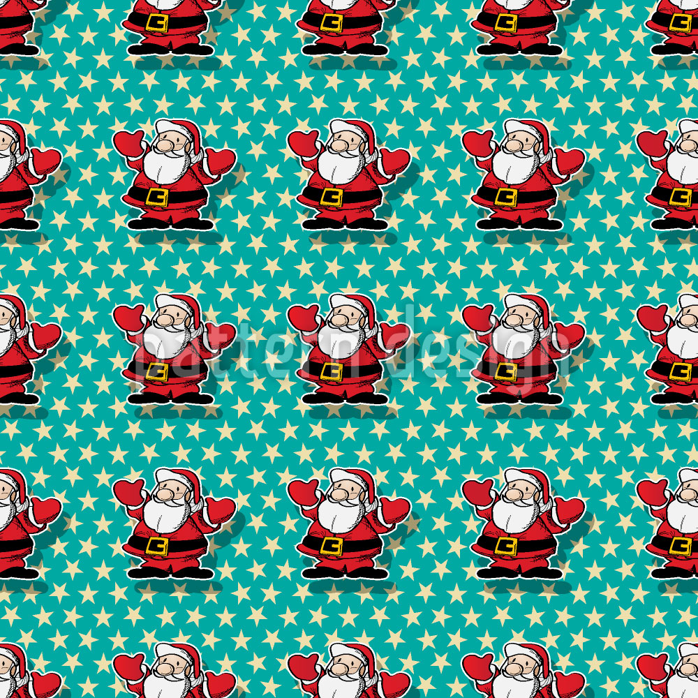 Designtapete Weihnachtsmann Im Glück