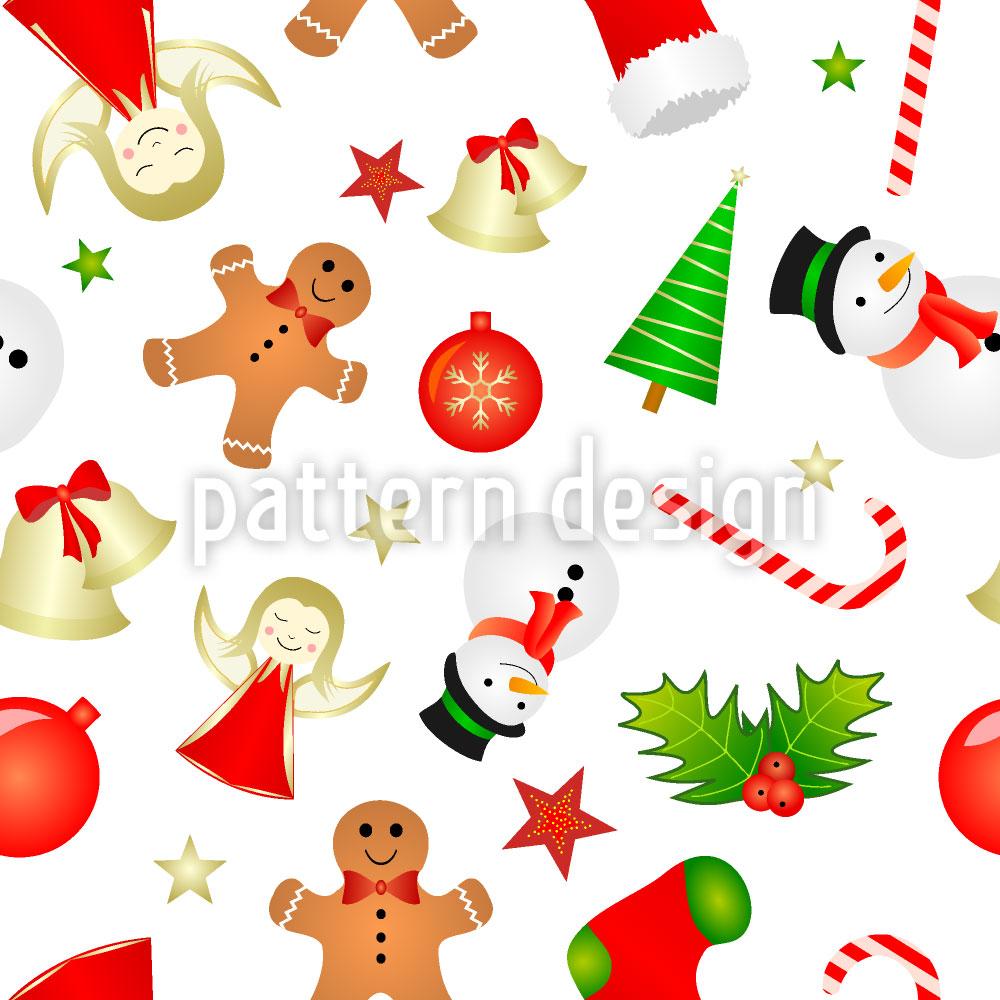 Designtapete Weihnachts Minis