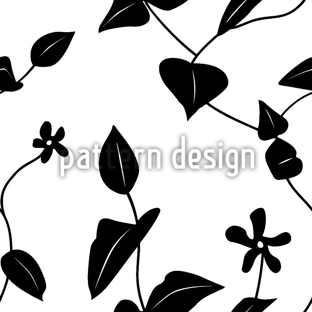 Designtapete Blumen Auf Dem Hügel