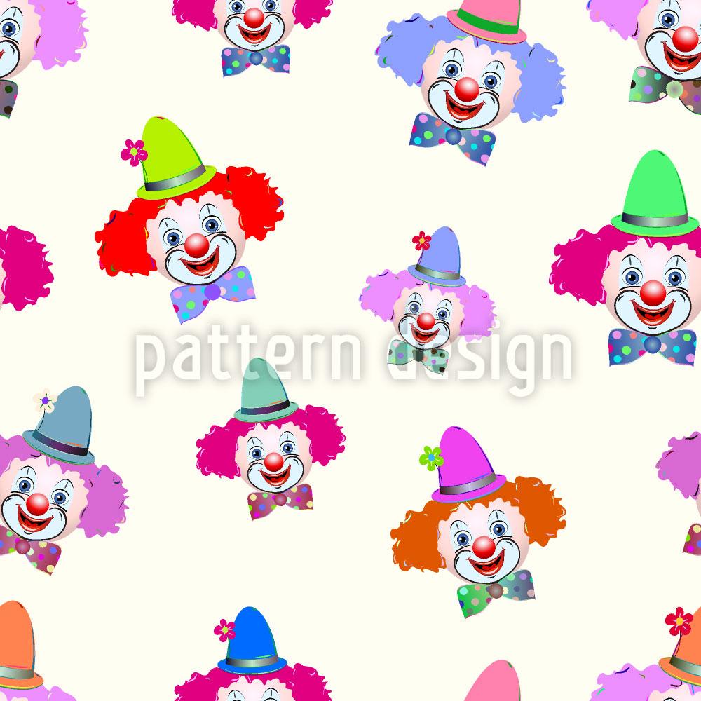 Designtapete Freundliche Clowns