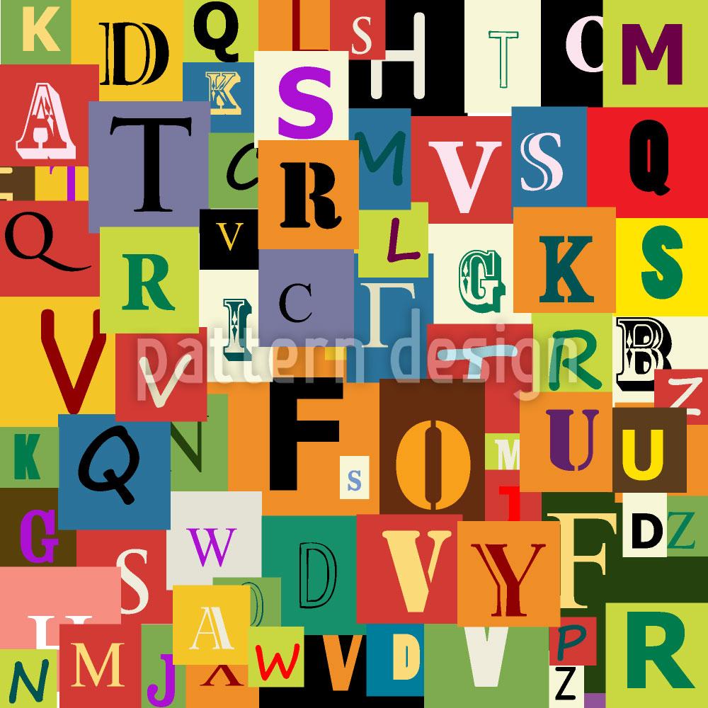 Designtapete Alphabet