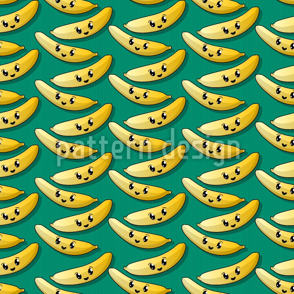 Designtapete Happy Banana