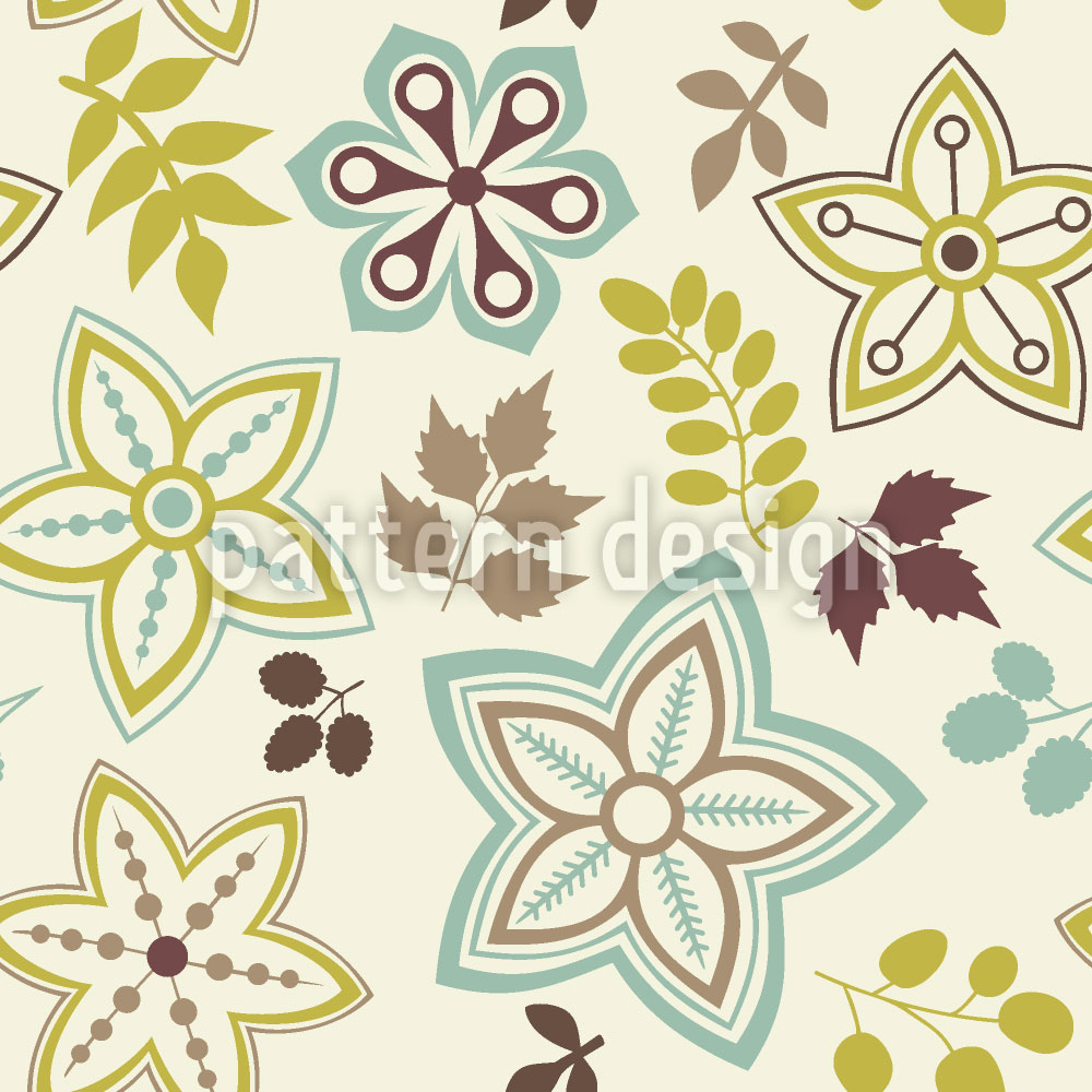 Designtapete Blatt Und Blume Sind Vorboten Des Frühlings