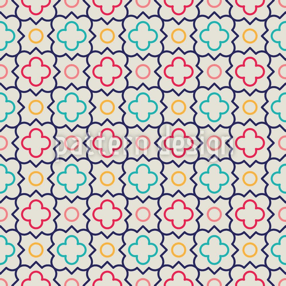 Designtapete Süsse Vierpass Blumen