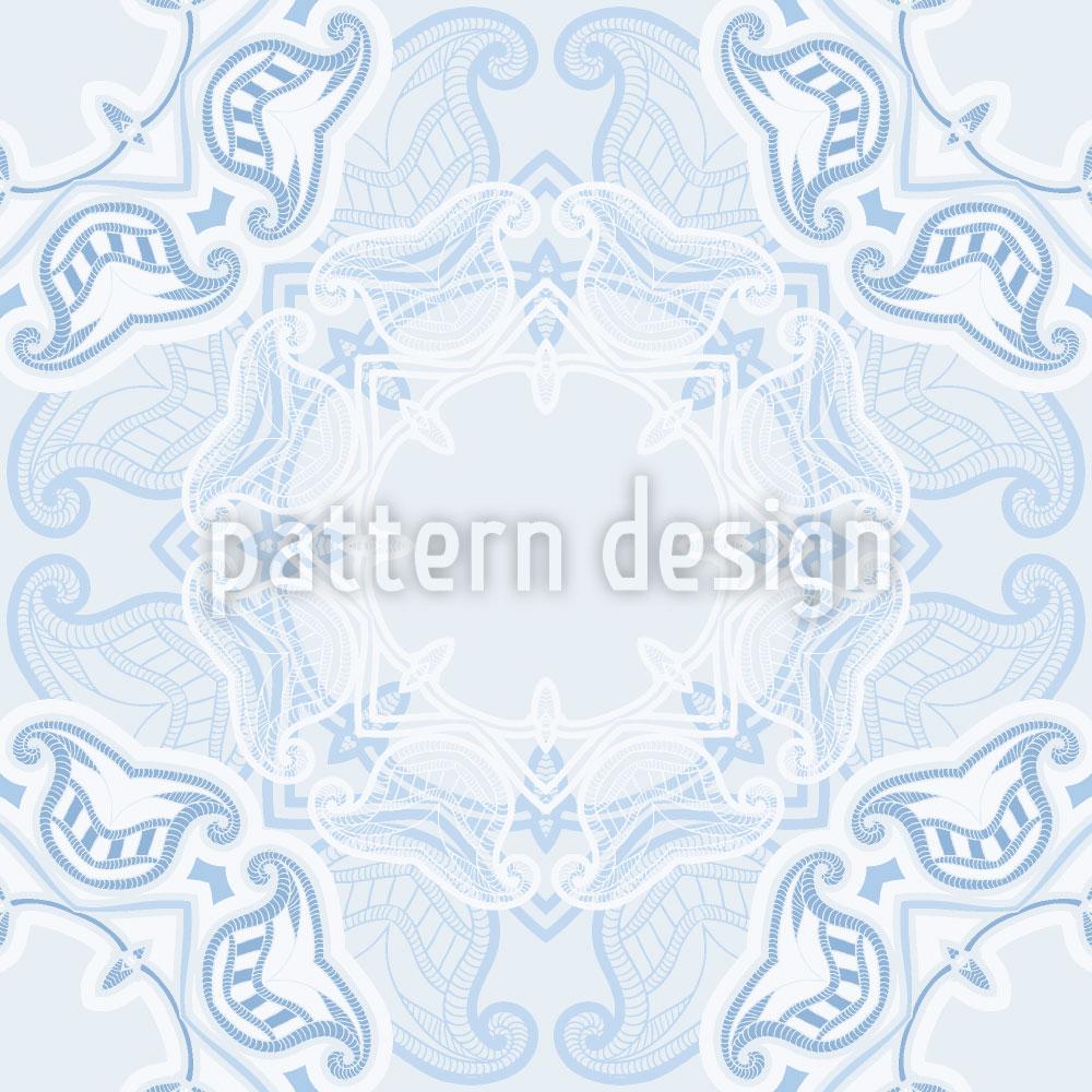 Designtapete Winter Deckchen