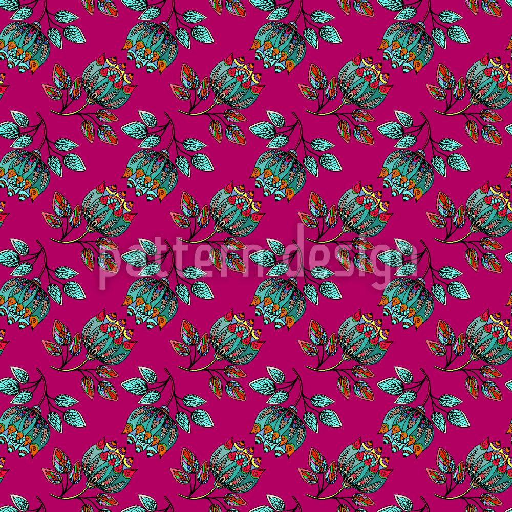 Designtapete Persische Blumenpracht