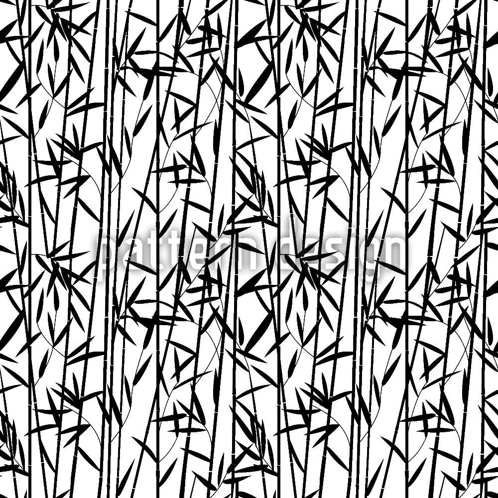 Designtapete Bambus Streifen
