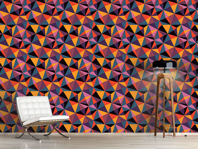 Designtapete Geometrie Der Moderne