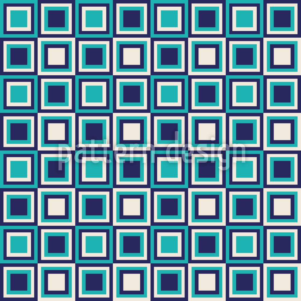 Designtapete Retro Quadrate Sind Cool