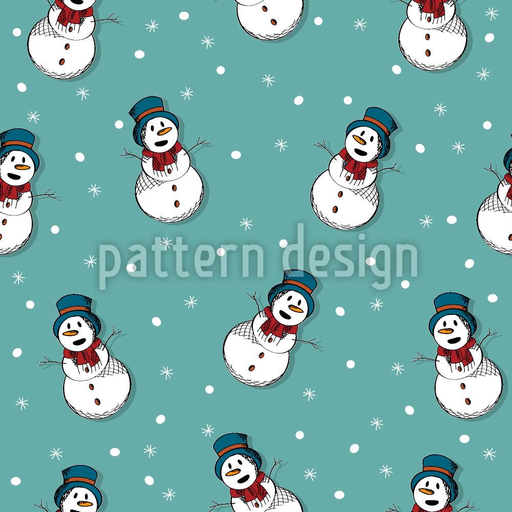 Designtapete Frosty Der Schneemann