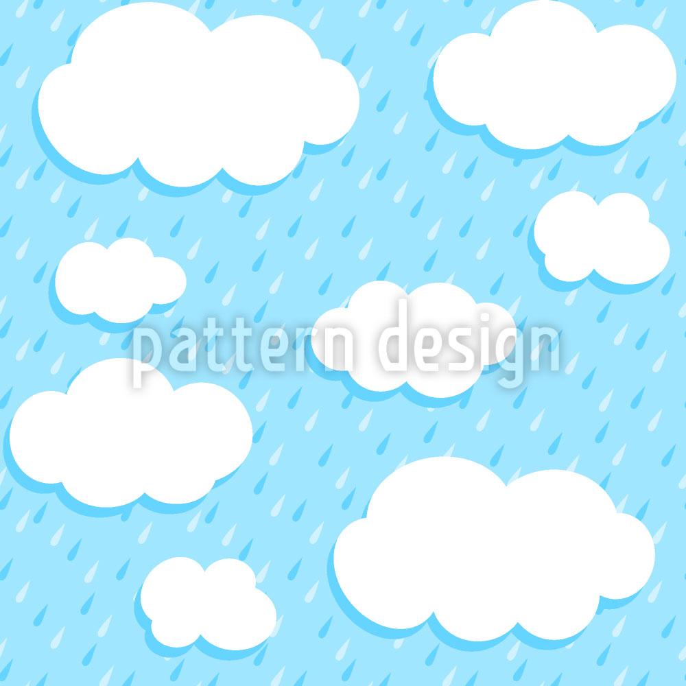 Designtapete Wolken Und Tropfen