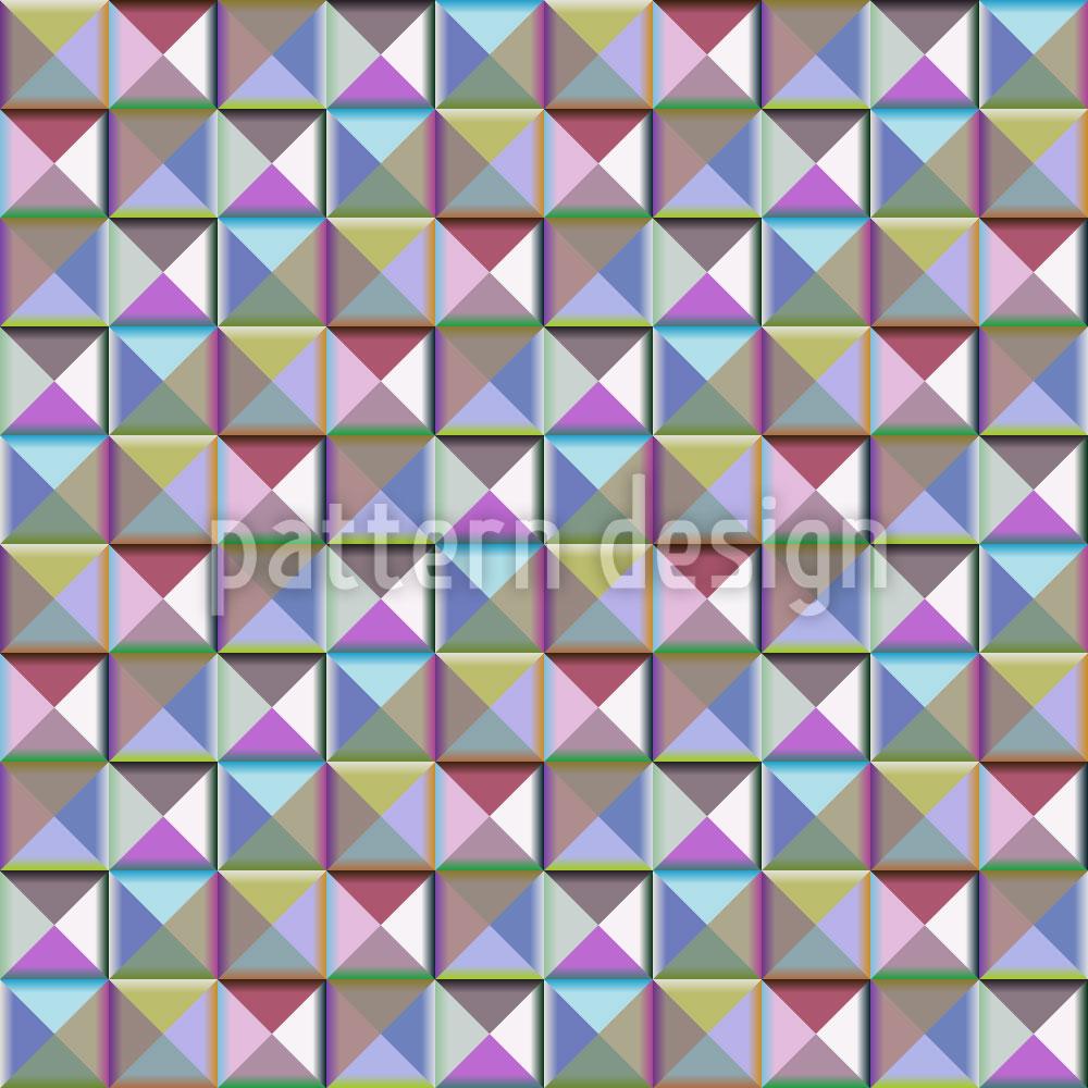 Designtapete Mosaik Der Dritten Dimension