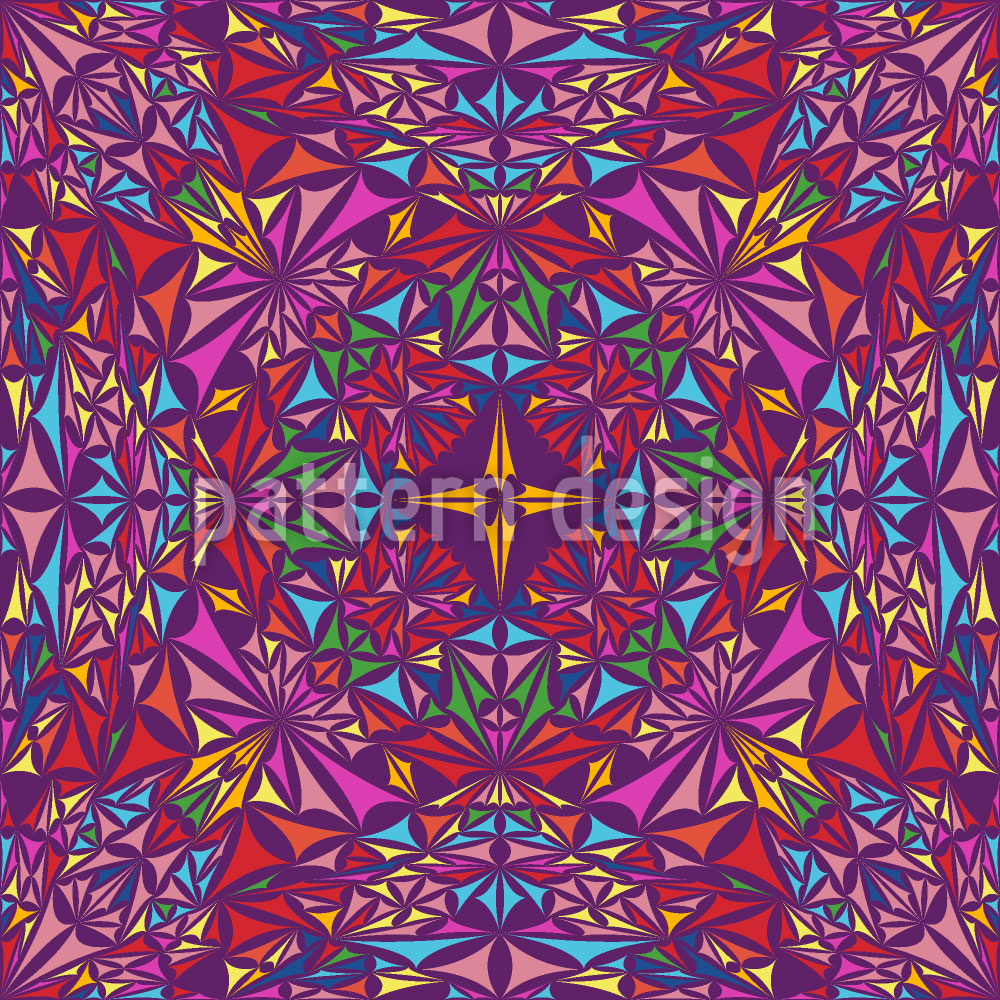 Designtapete Kaleidoskop Der Farben