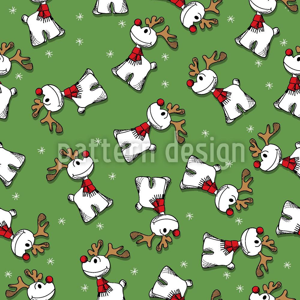 Designtapete Rudolph Mit Der Roten Nase