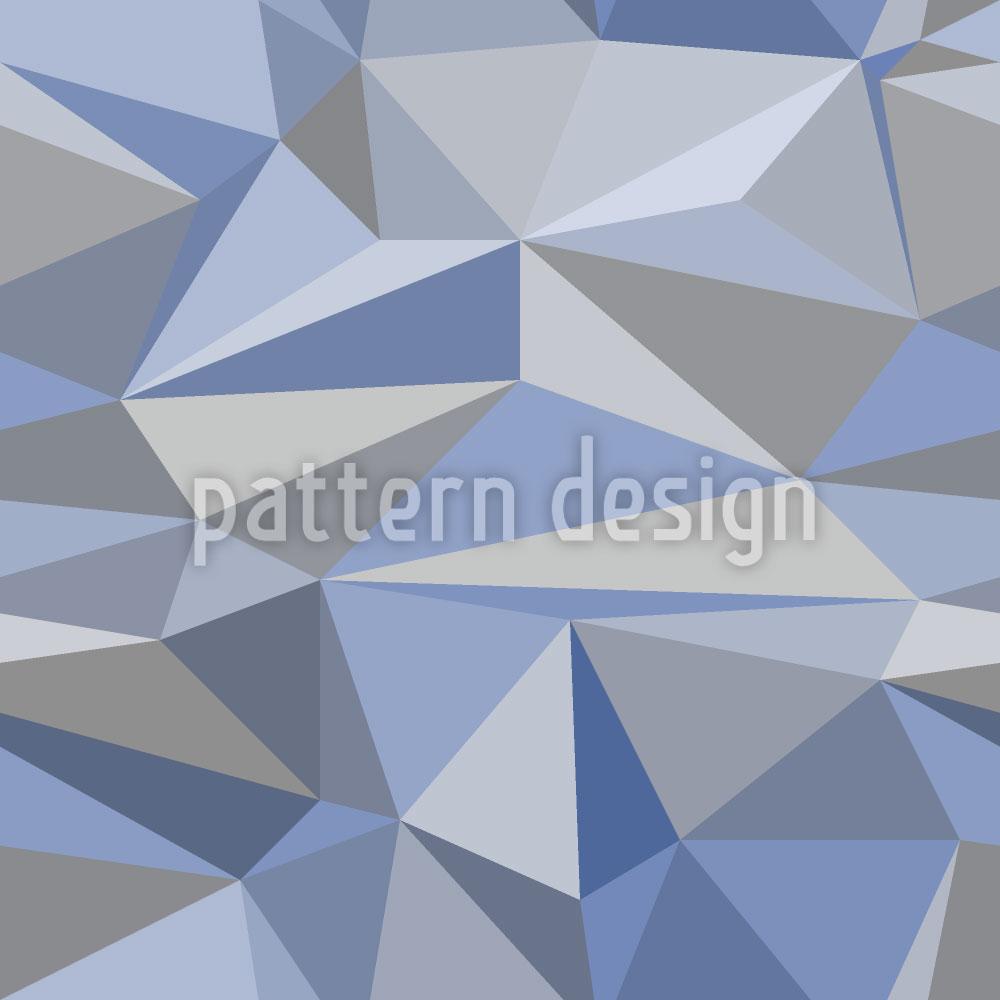 Designtapete Eisberg Geometrie