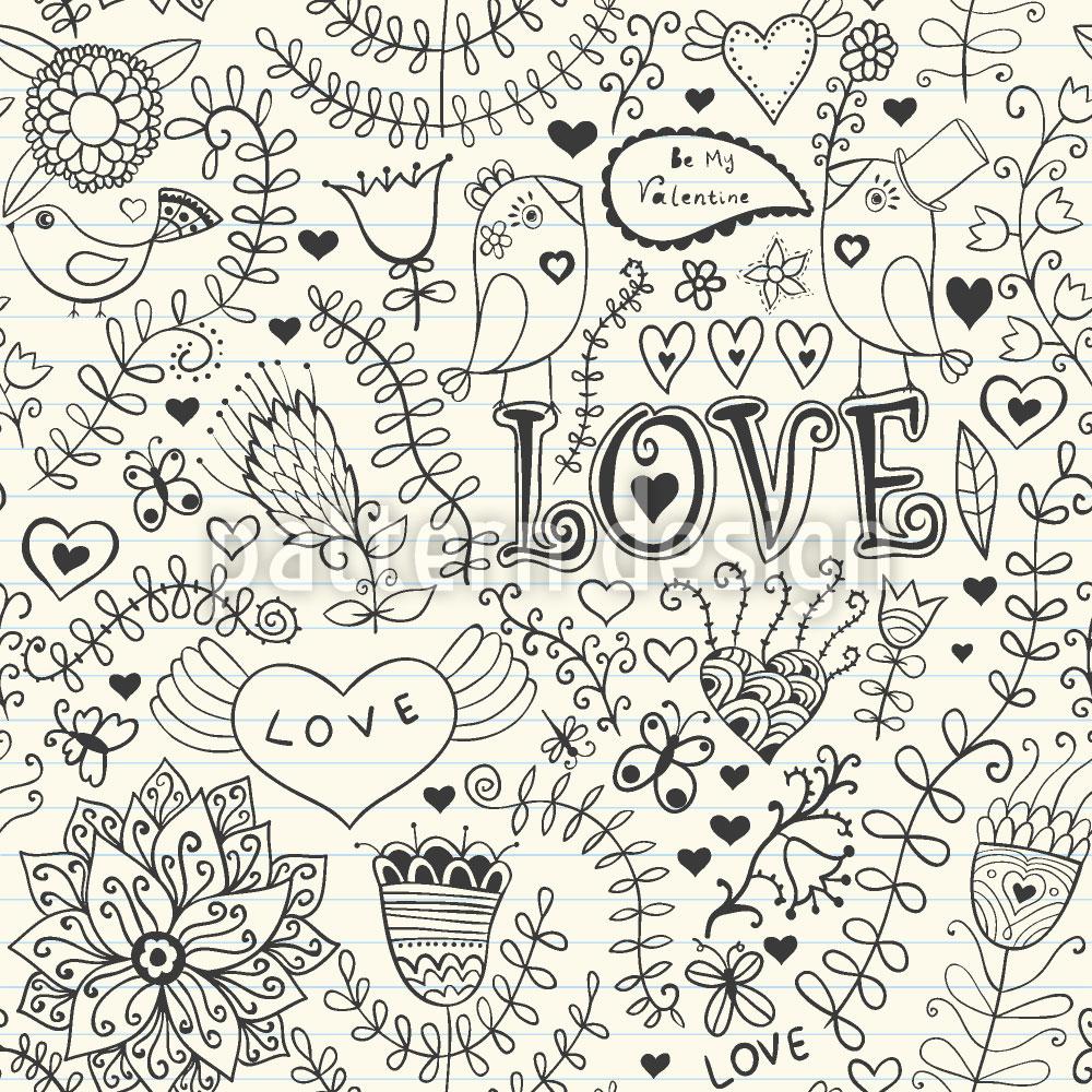 Designtapete Valentinstag Im Schreibheft