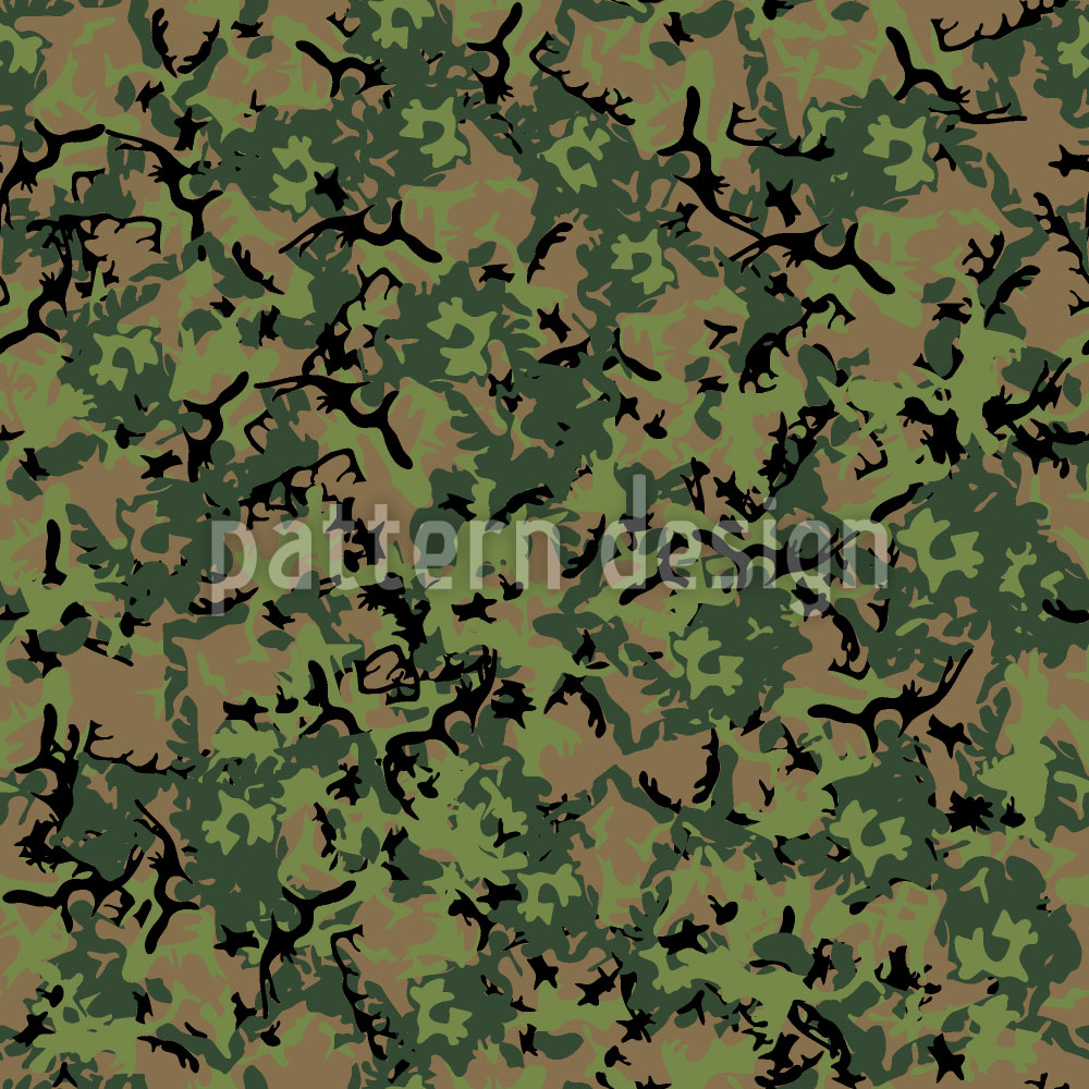 Designtapete Wald Camouflage