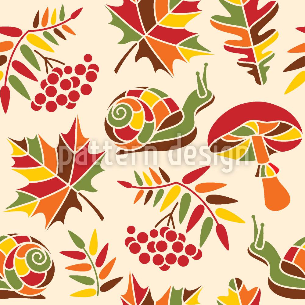 Designtapete Die Schnecke Und Der Herbst