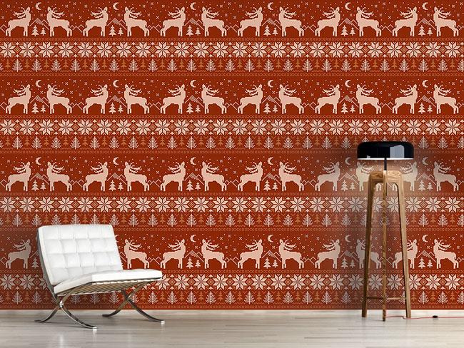 Designtapete Die Hirsche Röhren In Norwegen