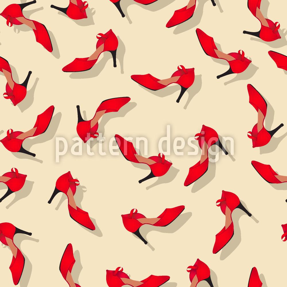 Designtapete Die Roten Schuhe