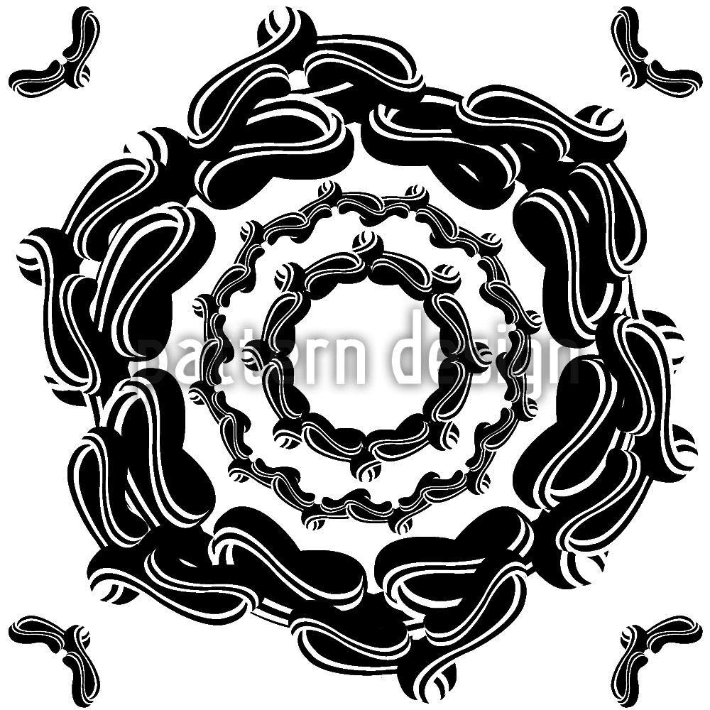 Designtapete Das Siegel Der Blume