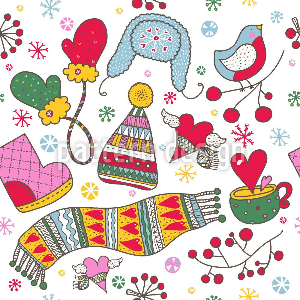 Designtapete Wir Lieben Den Kalten Winter