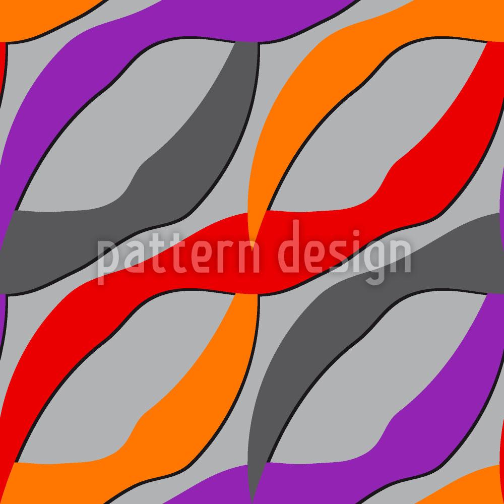 Designtapete Farbwellen