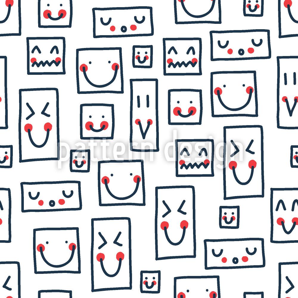 Designtapete Smileys Zum Quadrat