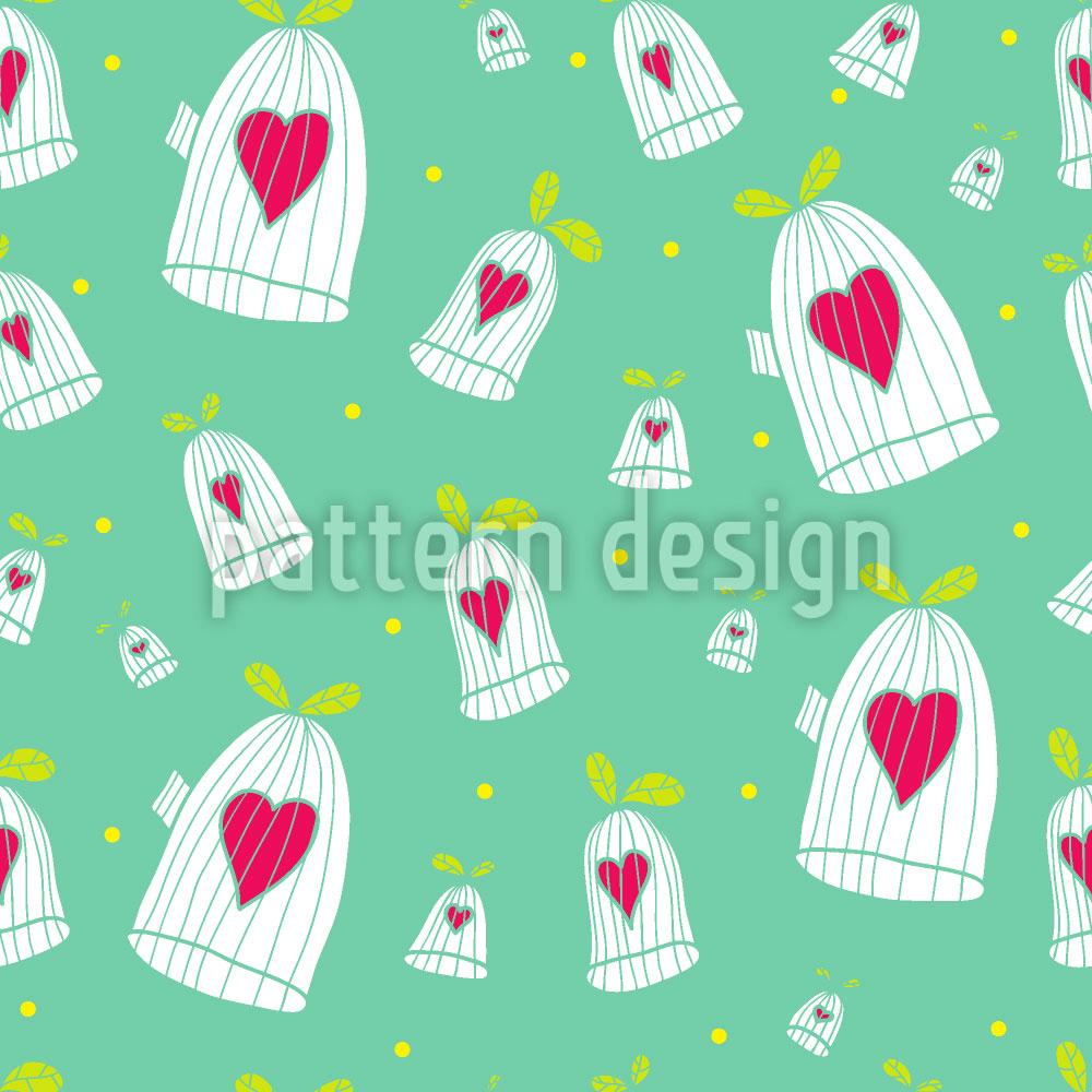 Designtapete Herzen Öffnen Käfigtüren
