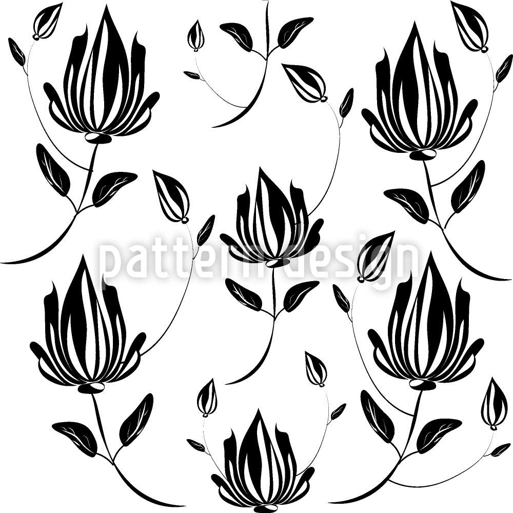Designtapete Magnolie Im Schatten
