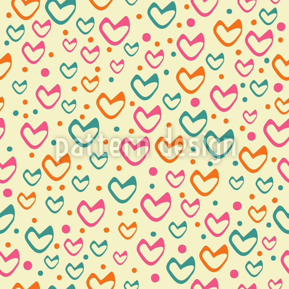 Designtapete Süsse Herzen Steigen Auf