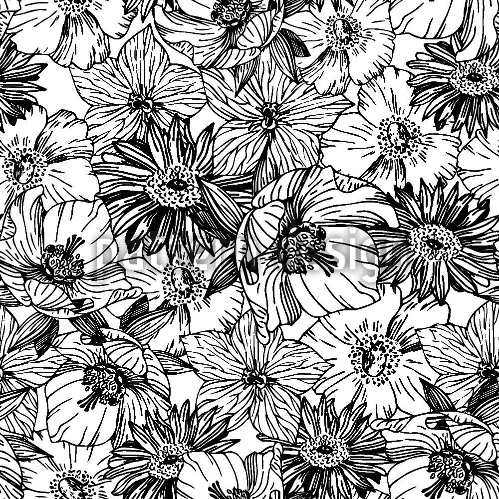 Designtapete Blumen Rausch