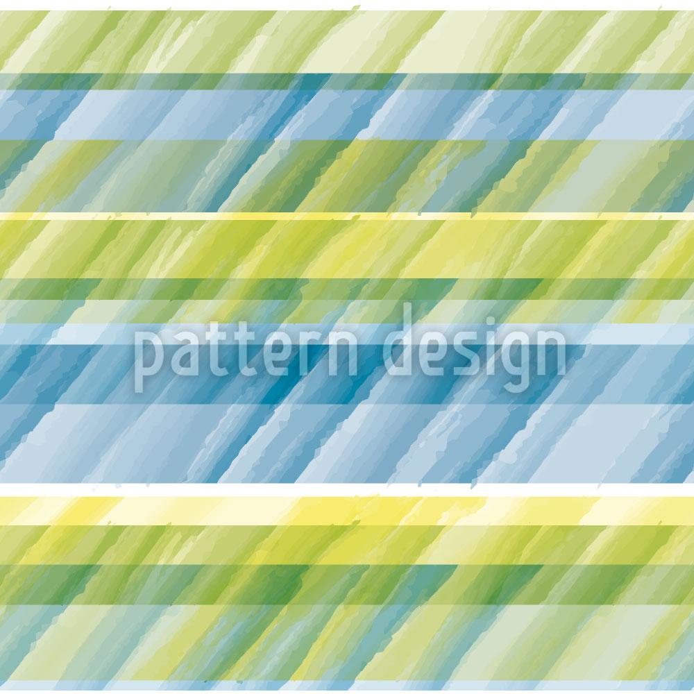 Designtapete Aqua Streifen