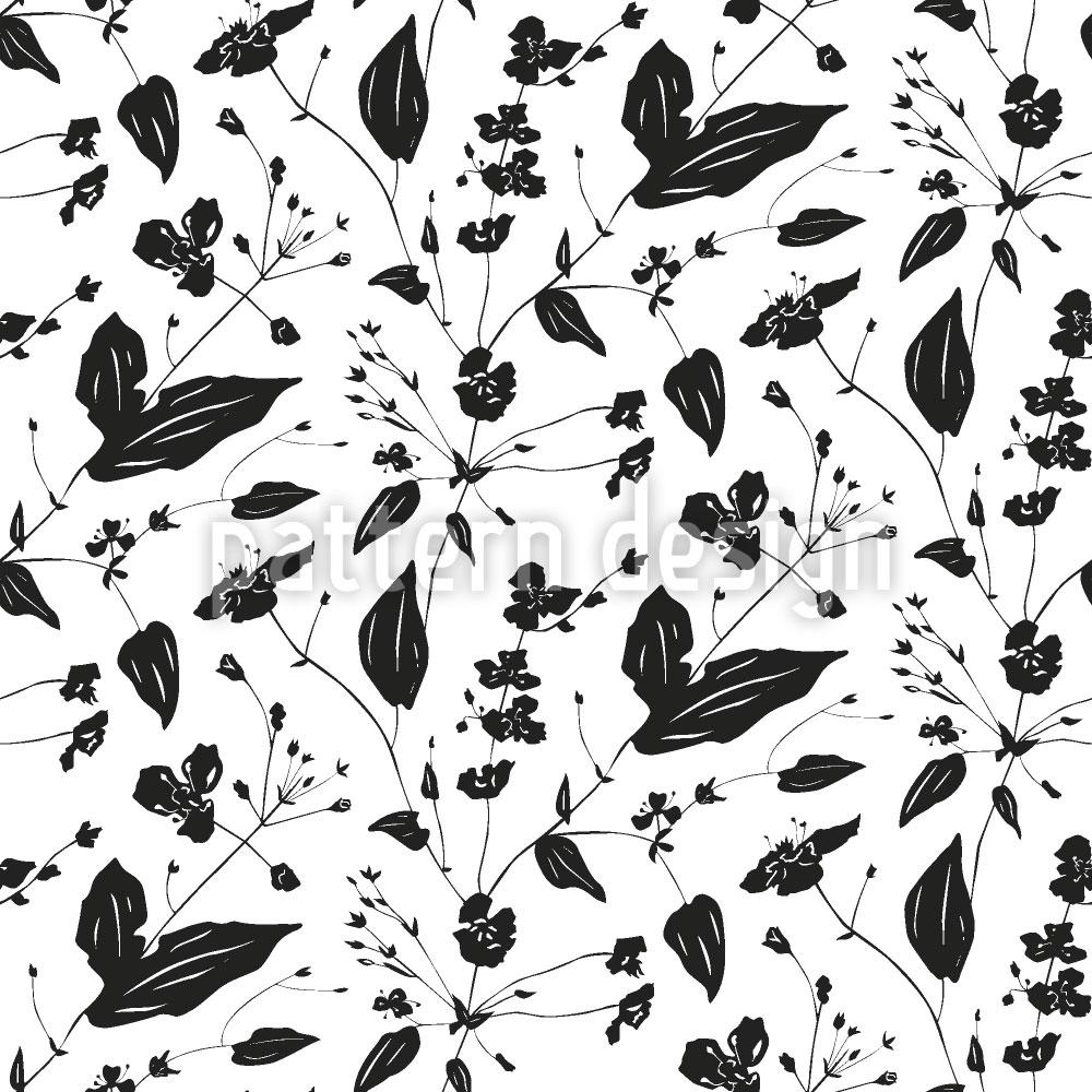 Designtapete Blumen Nostalgie