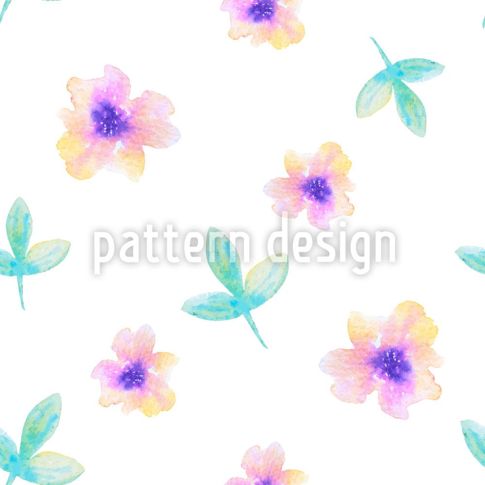 Designtapete Zartes Blumen Aquarell