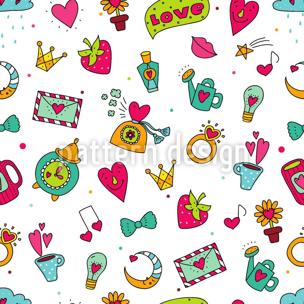 Designtapete Süsse Kleinigkeiten Der Liebe