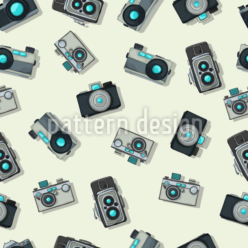 Designtapete Vintage Kamera
