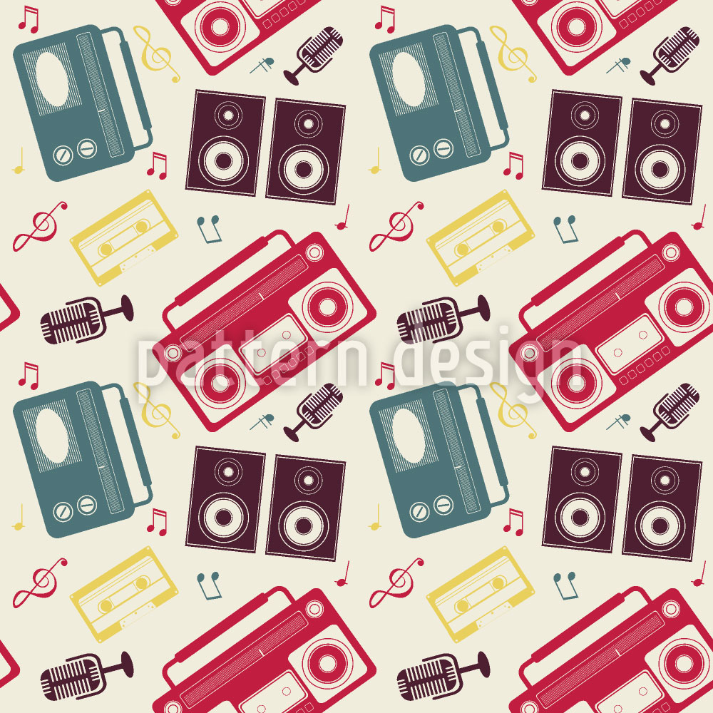 Designtapete Mein Radio