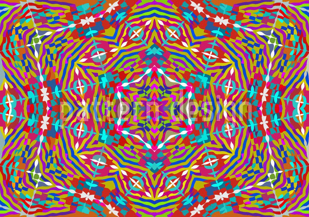 Designtapete Kaleidoskop Expression