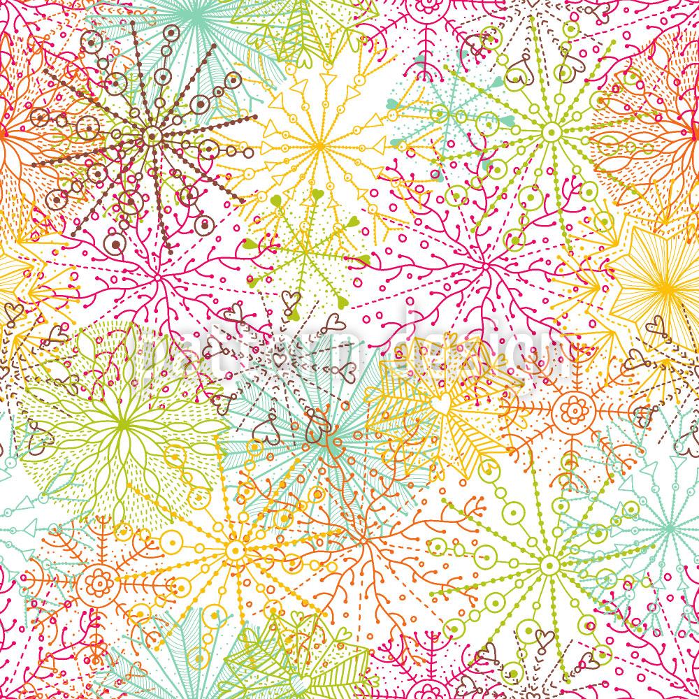 Designtapete Korallen Sterne
