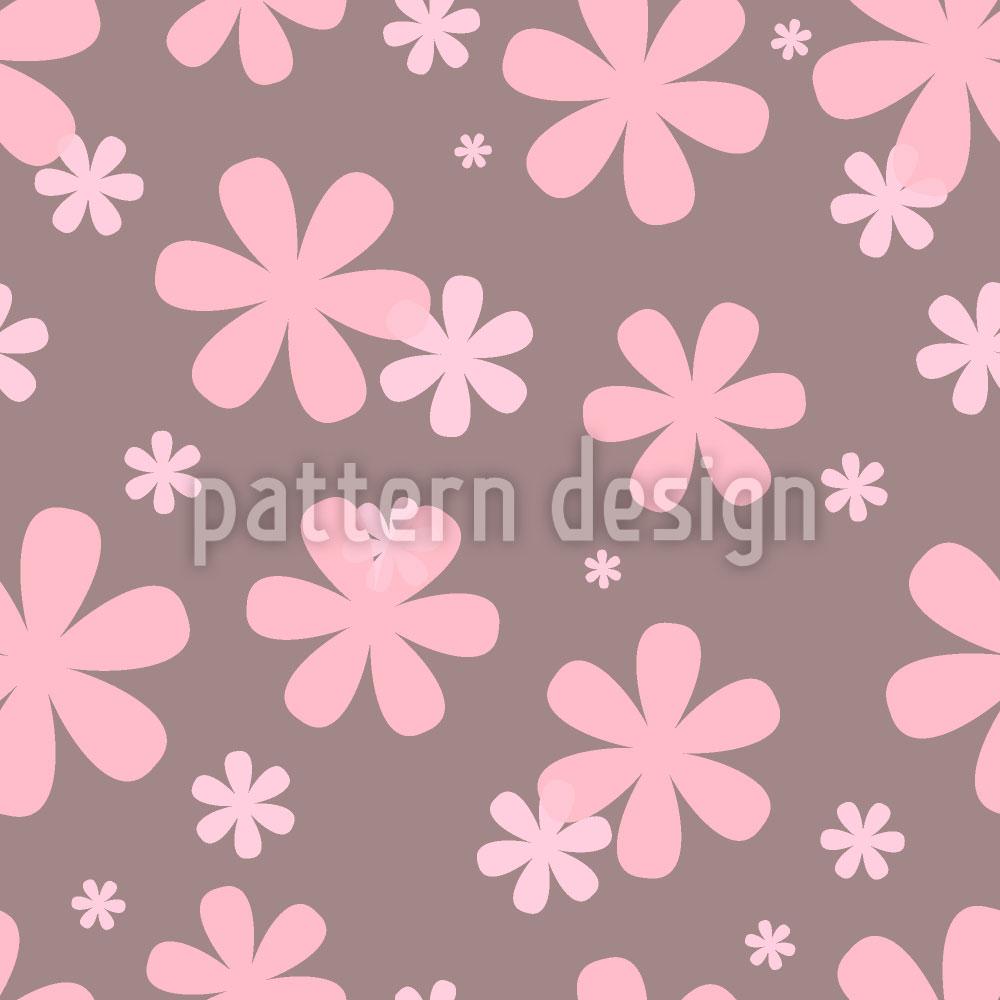 Designtapete Rosis Blumen Regen