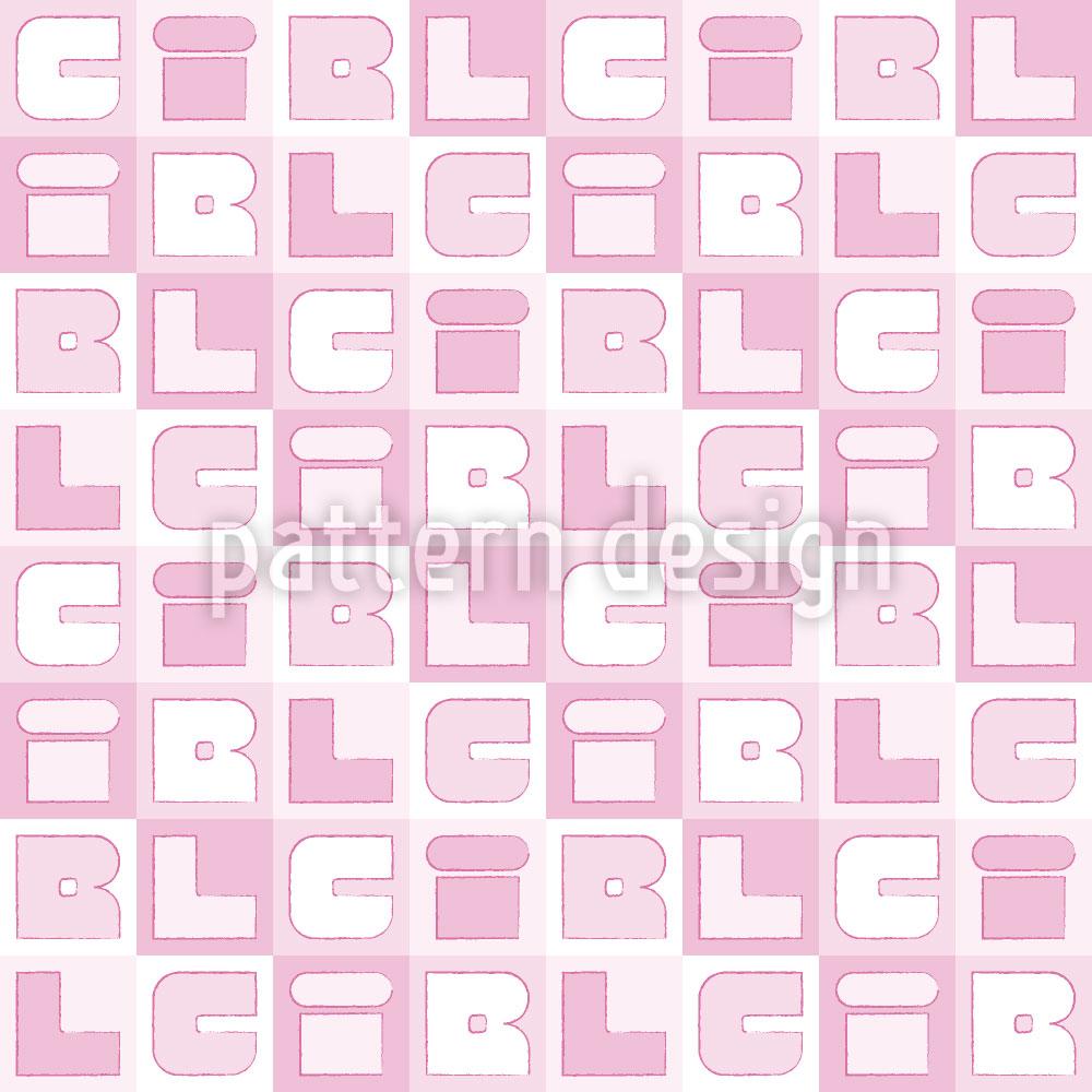 Designtapete Girl Sudoku