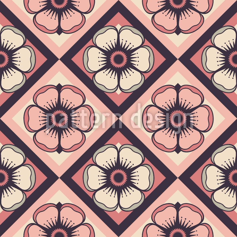 Designtapete Schachbrett Floralia