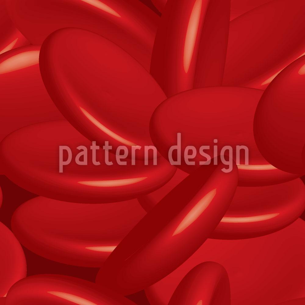 Designtapete Blutkörperchen