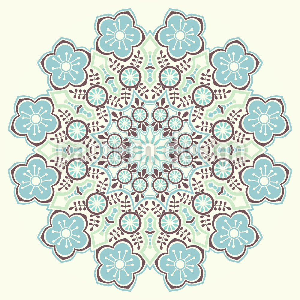 Designtapete Zauberhaftes Winter Mandala