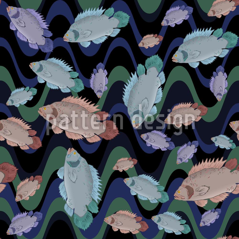 Designtapete Fische In Der Strömung