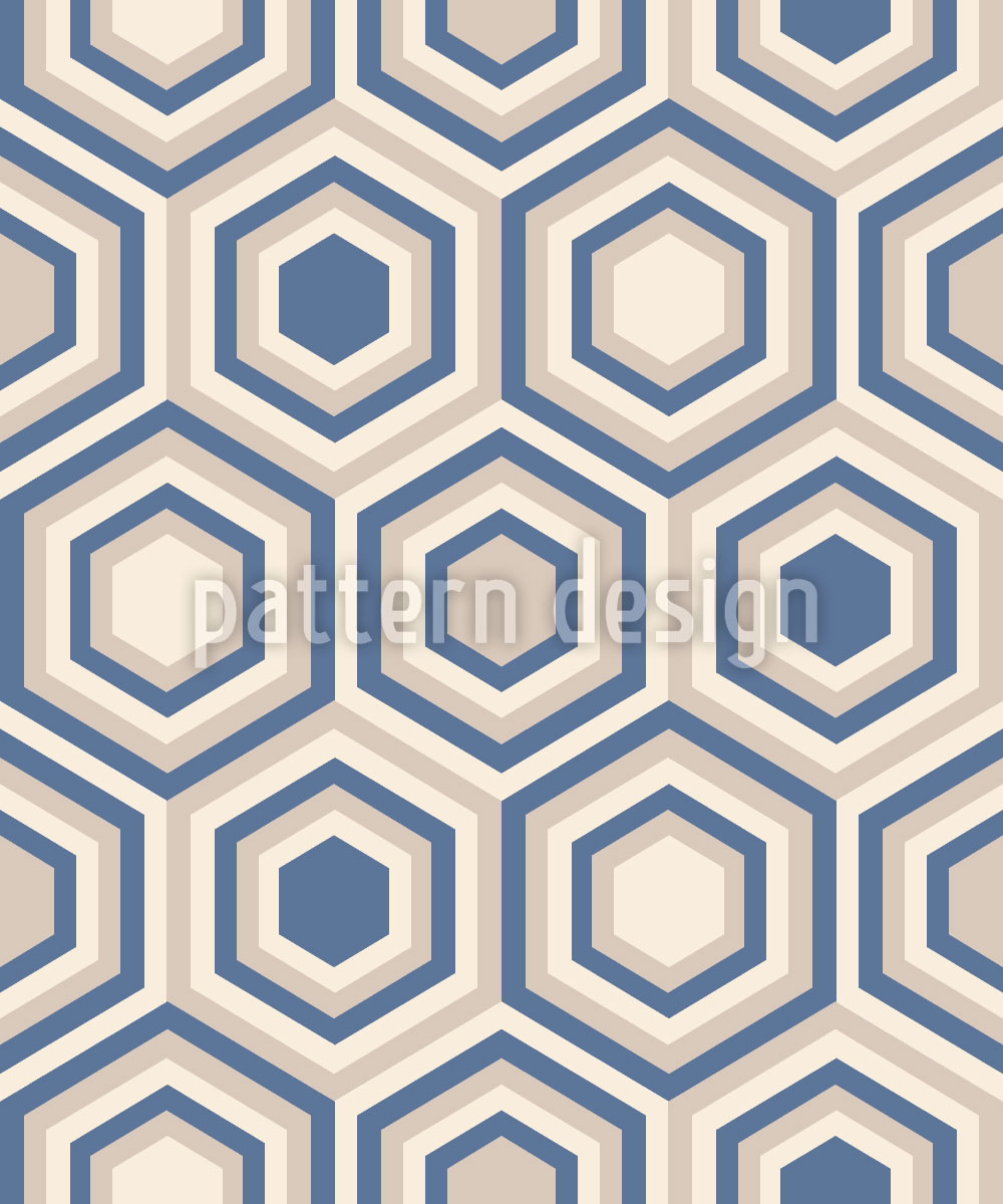 Designtapete Soft Hexagon
