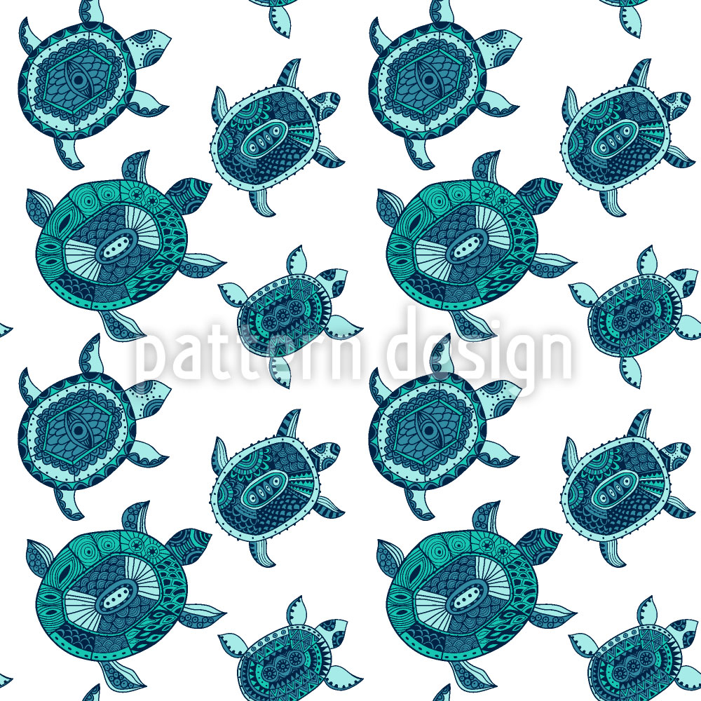 Designtapete Die Fantastische Reise Der Smaragdschildkröten