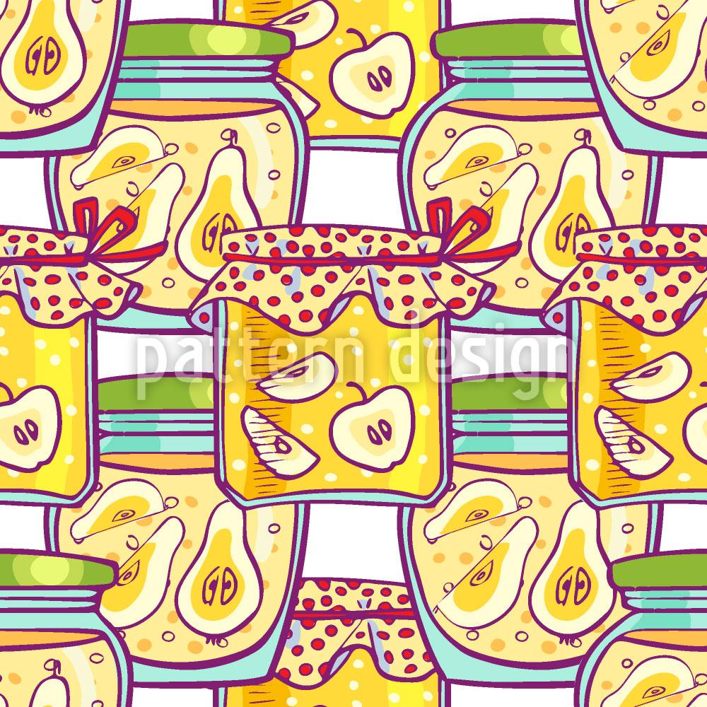 Designtapete Fruchtkompott Im Glas