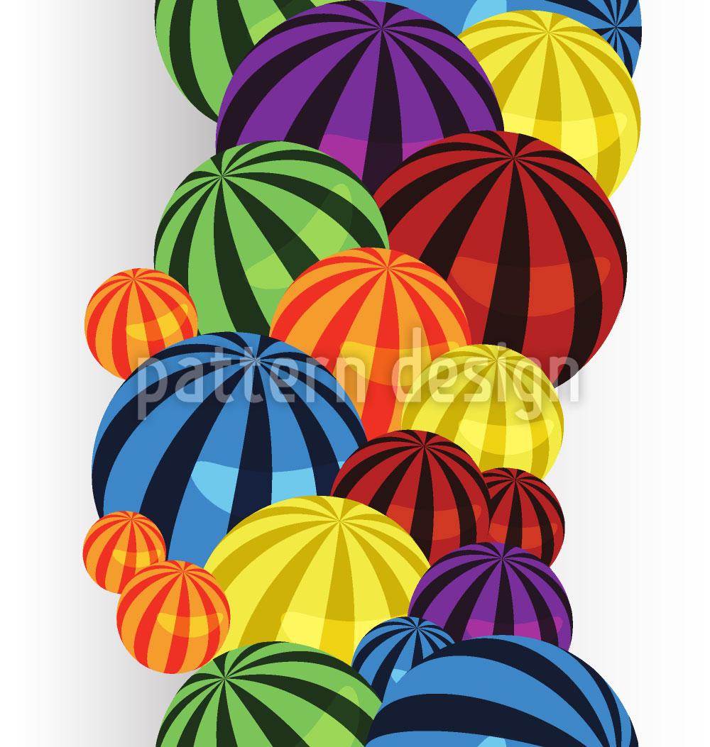 Designtapete Ball Reihen